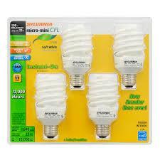 shop sylvania 4 pack 100 w equivalent soft white a19 cfl light