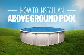 how to install a round above ground pool