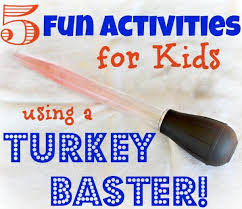 Fun Activities For Thanksgiving Crafty Mom Five Fun Activities For Kids Using A Turkey Baster