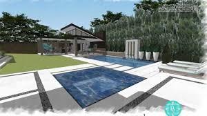 modern pool cabana designs palm beach house backyard swimming
