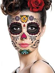 day of the dead sugar skull temporary sets or