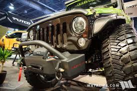 jeep 2016 inside 2016 sema snyper green 2 door jeep jk wrangler