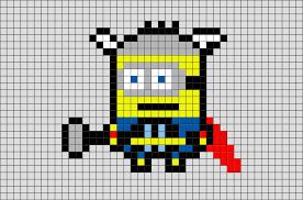 thor minion pixel art u2013 brik
