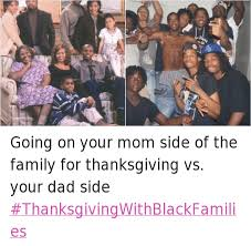 going on your side of the family for thanksgiving vs your