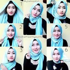 tutorial jilbab remaja yang simple cara memakai hijab terbaru yang simple dan modis hijab terbaru