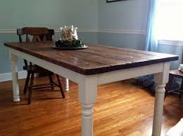 stained table top painted legs how to build a vintage style dining room table yourself dining