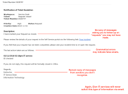 service desk email exles 2 real exles to help you spot an email phishing scam