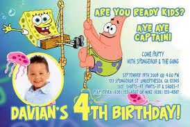 2 beautiful spongebob 2 years old birthday party invitations