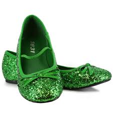 Flatshoes Buy Green Sparkle Flat Shoes Child