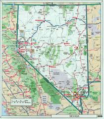 Interstate Map Of United States by Large Detailed Roads And Highways Map Of Nevada State With