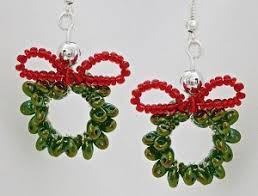 images of christmas earrings 43 free beading patterns for christmas jewelry