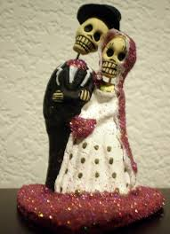 day of the dead cake toppers hot pink till do us part dia de los muertos cake topper