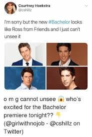 The Bachelor Memes - courtney hoekstra i m sorry but the new bachelor looks like ross
