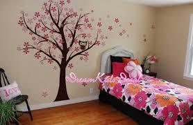 stickers arbre chambre enfant chouette et merisier fleur arbre mur collection et stickers arbre
