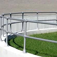 Plastic Handrail Handrail Systems Fall Prevention Dock Rail Mezzanine Rail