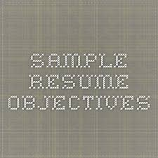 Sample Resume Job Objectives by Best 25 Career Objectives Samples Ideas On Pinterest Good