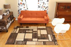 7 X 7 Area Rug Amazon Com New City Contemporary Brown And Beige Modern Square