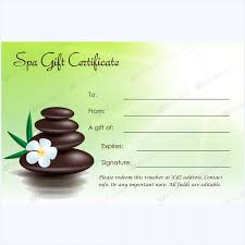 spa gift certificate template free download spa gift certificate