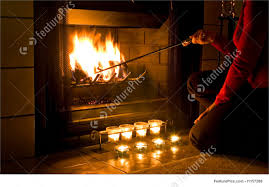romantic fireplace picture