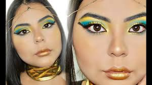 queen of egypt halloween makeup tutorial 2016 youtube