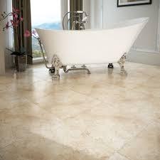 Travertine Tile Effect Laminate Flooring 7 Salerno Textured Matt Cream Floor Tiles Victorian Plumbing Co Uk