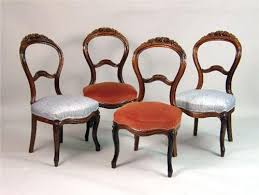 Victorian Dining Chairs A Set Of Four Victorian Carved Rosewood Dining Chairs