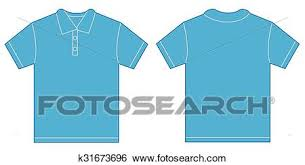 clip art of light blue polo shirt design template for men