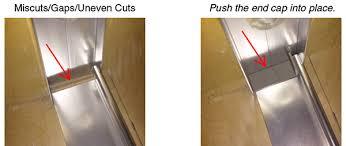 shower door track miscuts