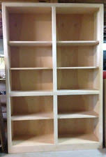 5 Foot Wide Bookcase Maple Bookcase Ebay