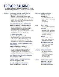 Resume Activities Section Trevor Zalkind Resume Gra 217 Section 5 Group 2
