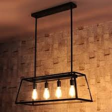 light kitchen island loft pendant l retro american industrial black iron rectangular
