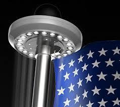 solar led flagpole light hoont bright led solar powered flag pole light 20 leds auto on