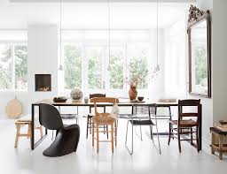 White Dining Table With Black Chairs Chair Crush The Black Panton Chair Erika Brechtel