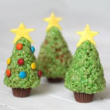 rice krispie krispy treat trees to make with