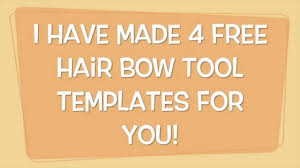 hair bow templates free hair bow tool templates