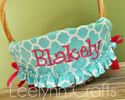personalized easter basket liners personalized easter basket liner easter basket liner aqua