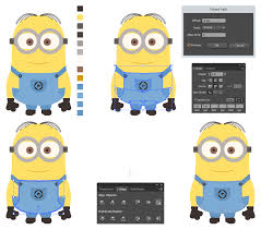 create minion style character illustrator u2014 medialoot