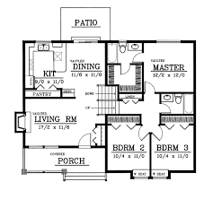multi level floor plans craftsman house plan 3 bedrooms 2 bath 1224 sq ft plan 1 147