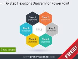 korean home design sles 6 step hexagons diagram for powerpoint diagram graphics and