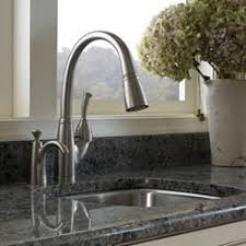 kitchen sink faucet with pull out spray k 10433 fort single handle pull out spray kitchen sink faucet