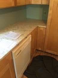 clear coat for cabinets lg viatera rococo quartz shaker maple cabinets in clear finish