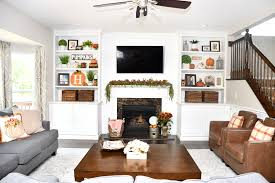 fall house tour and decorating ideas family room