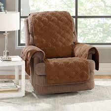 slipcover for recliner chair sure fit plush comfort recliner slipcover reviews wayfair