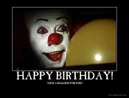happy birthday creepy clown scary happy birthday by chris000 on deviantart