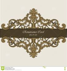 invitation card with renaissance royal classic ornaments stock