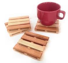 wooden drink coaster beverage pallet drink coaster coffee coaster 4 coaster set