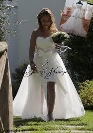 robe de mari e chetre chic robe de mariee courte en satin et jupe en tulle amovible