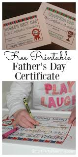 Free Printable Halloween Certificates by Free Fathers Day Certificate
