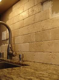 travertine tile kitchen backsplash travertene subway tiles stacked not grouted love it i wanted to