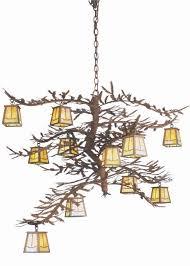 Lodge Lighting Chandeliers Rustic Cobble Lodge Pine Branch Chandelier 12 Light Reclaimed